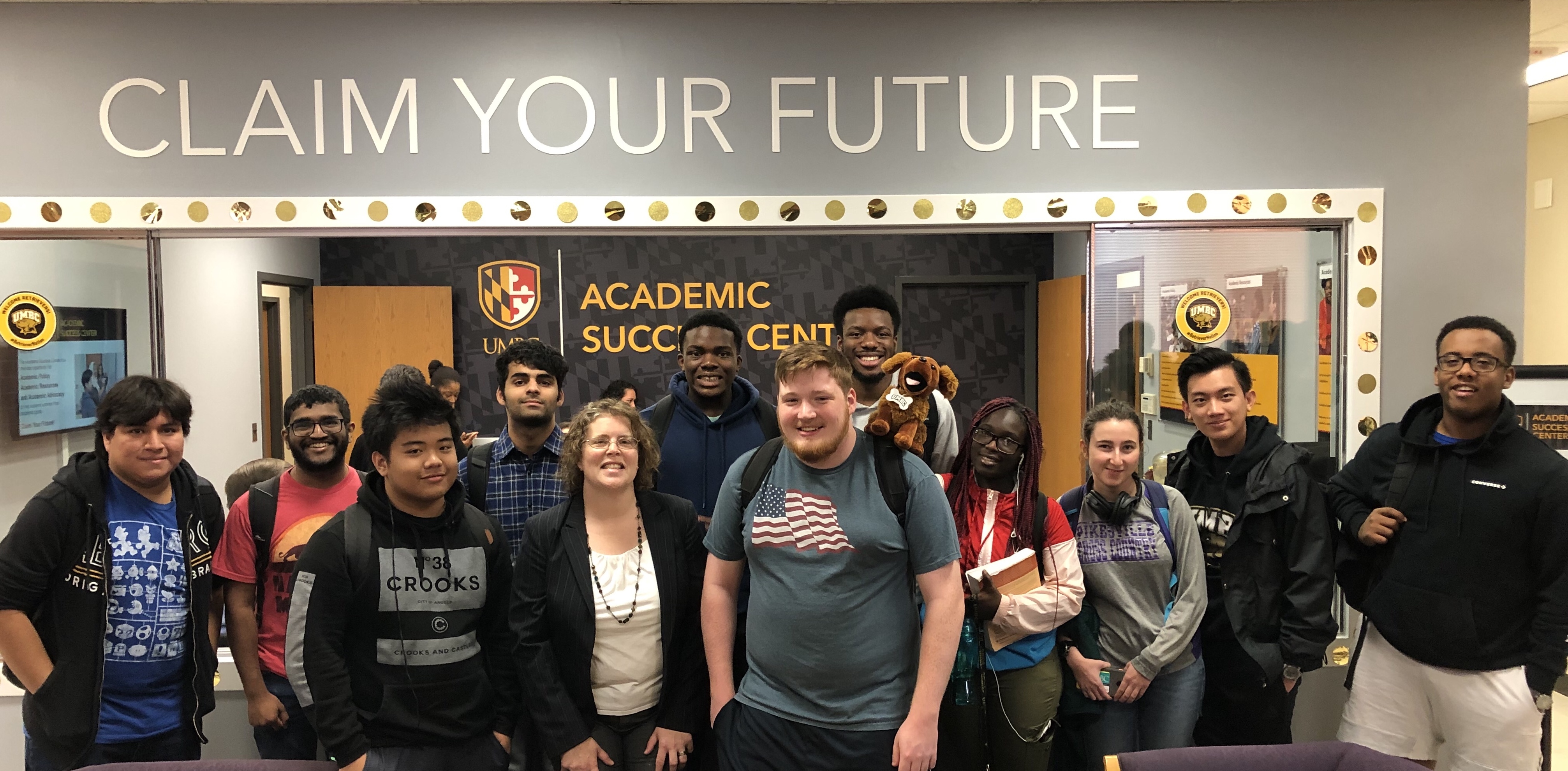 Group of Students in the Academic Success Center